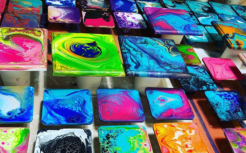 Casey Art Classes - Acrylic Pouring