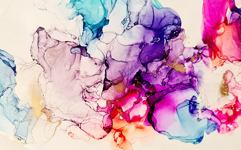 Casey Art Classes - Alcohol Inks Wall Art